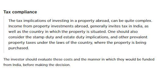 REMI's view on 'Important guidelines for buying a property outside India'-3