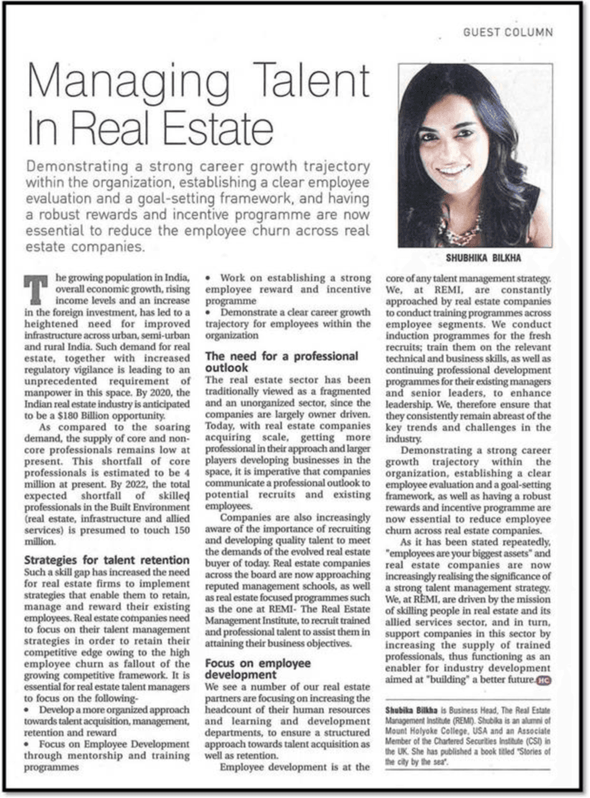 REMI's view on Managing talent in Real Estate 2